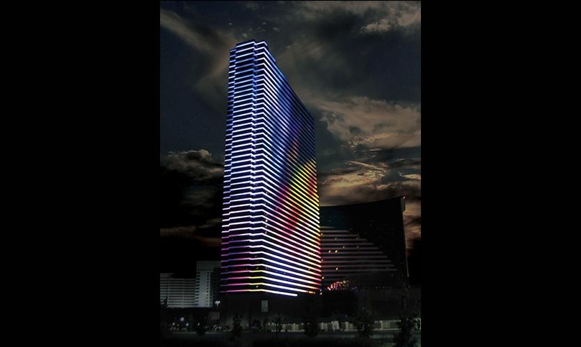 Digital Display, Harrah's Resort Media Façade, Harrah's Resort Atlantic City, Tim Hunter Design