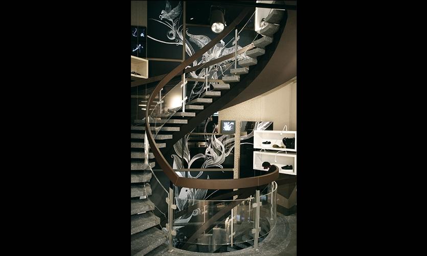 Staircase Graphics, Hugo Boss Orange Concept Store, Hugo Boss AG, Projekttriangle Design Studio
