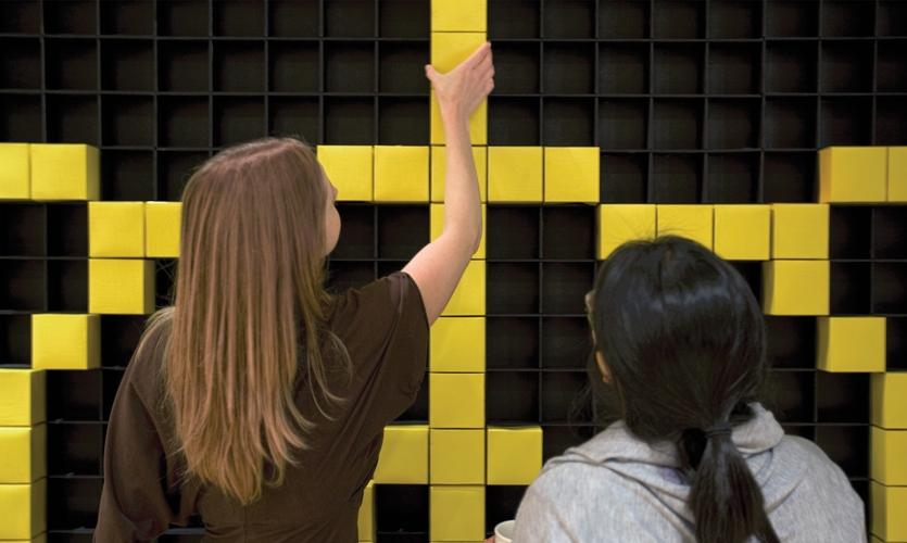 Detail of Pixel Wall, IDSA Annual Meeting, Industrial Design Society of America, Ziba Design