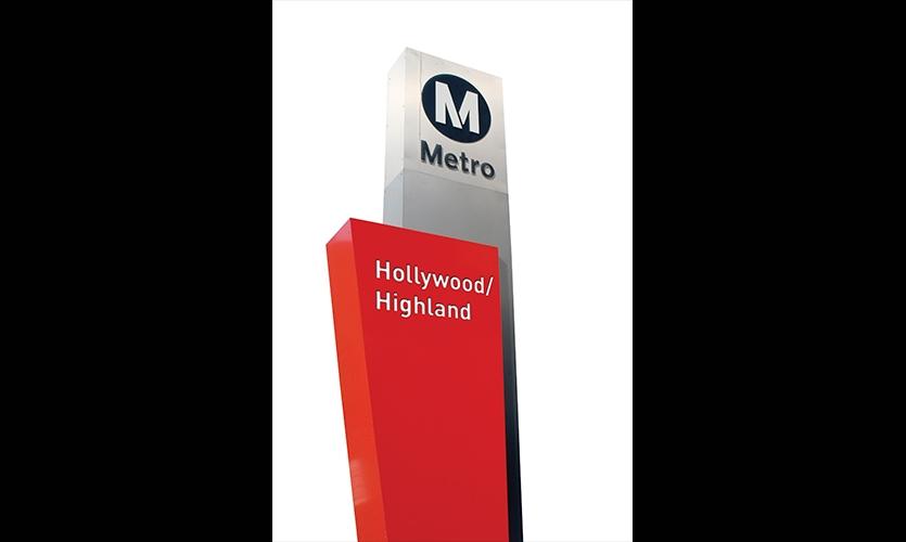 Signage, Los Angeles Metro, Metro Design Studio