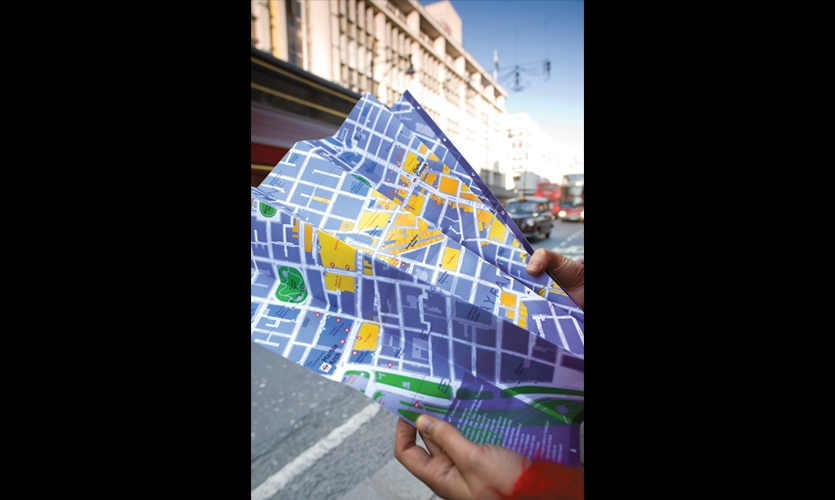 Printed Map, Legible London, Westminster City Council, Applied Information Group, Lacock Gullam