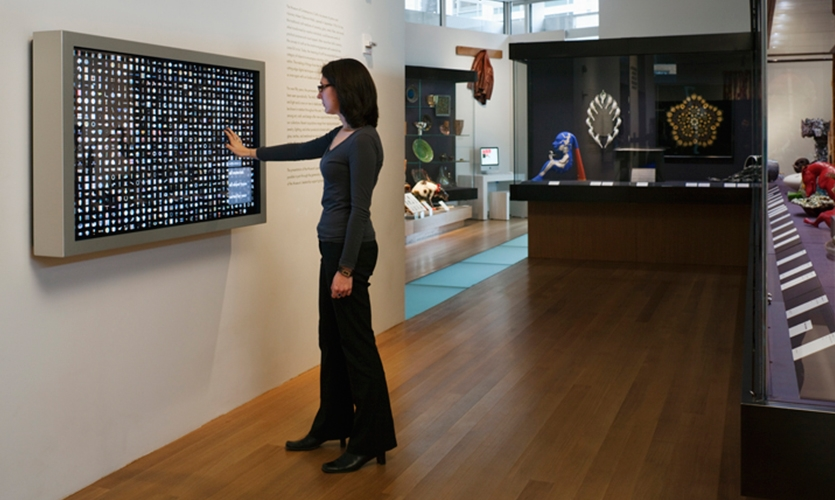 Interactive Screen, Museum of Arts and Design, Pentagram
