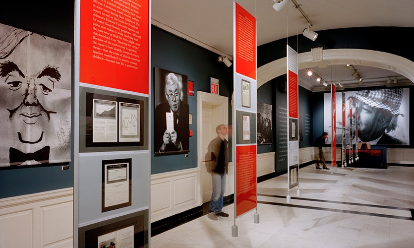 Suspended Double-Sided Panels, New York's Moynihan, Museum of the City of New York, Pentagram