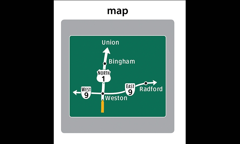Map, From Signs to Minds, Wayfinding Design and Mental Maps