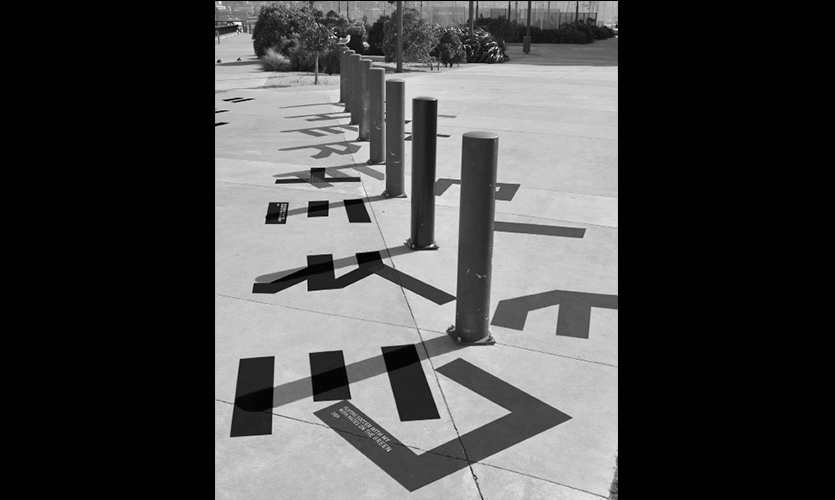 Shadows on the Ground, Urban Tales Shadow Typography, Massey University, College of Creative Arts, Katie Bevin