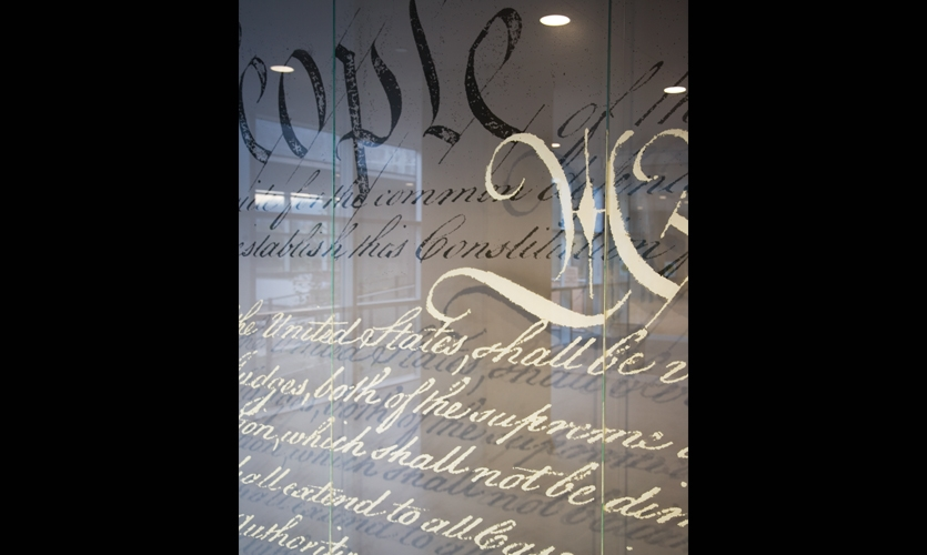 Close-Up of Lettering, Wayne Lyman Morse Courthouse, U.S. General Services Administration, Mayer/Reed