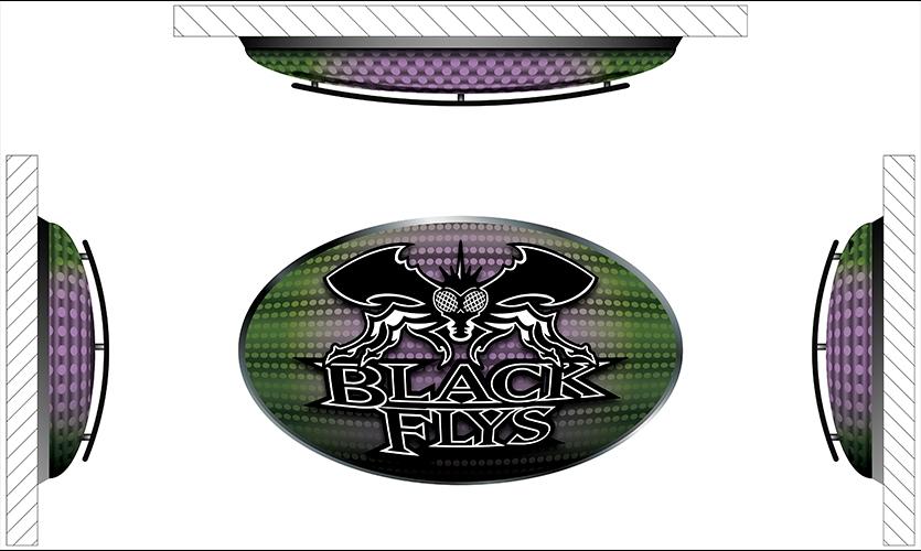 Logo, Black Flys Concept Store, Jonathan Deepe