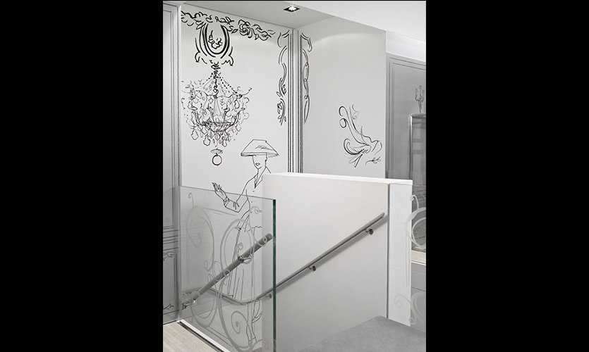 Top of Stairs, Christian Dior Temporary Store, Christian Dior Couture, Gensler