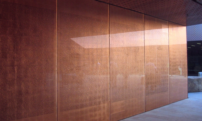 Donor Wall, de Young Museum, Fine Arts Museum of San Francisco, Debra Nichols Design