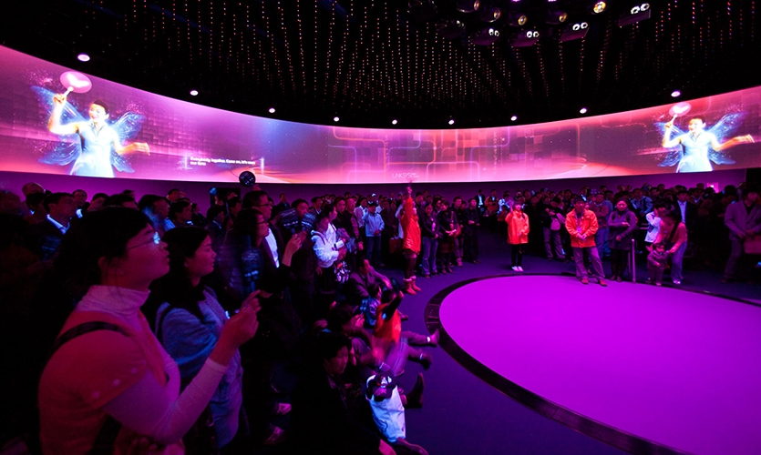 Interactive Video, Dream Cube: 2010 World Expo Shanghai Corporate Pavilion, Shanghai Corporate Community, ESI Design