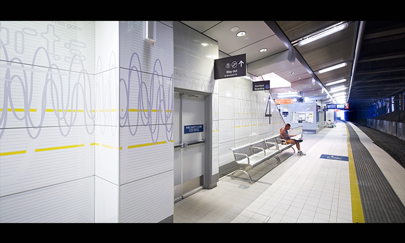 Station Identity, Fortitude Valley Station, QR Passenger Pty. Ltd., The Buchan Group