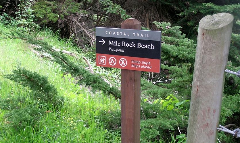 Mile Rock Beach, Golden Gates, Golden Gates National Parks Conservancy, Hunt Design