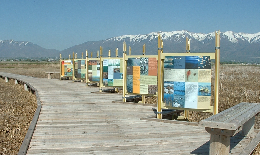Signage, Great Salt Lake Shorelands Preserve, The Nature Conservancy, Utah, Sea Reach Ltd.