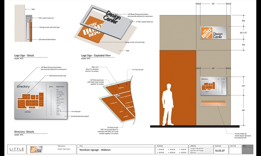 Awesome Vestibule Signage Plan, Home Depot Design Center, Home Depot, Little