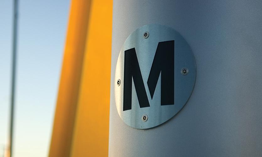 Logo Close-Up, Los Angeles Metro, Metro Design Studio