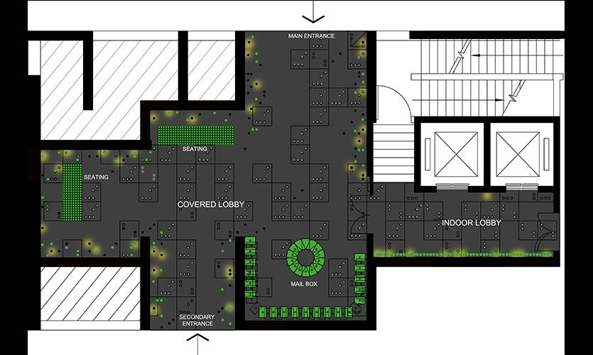Plan, Mellon Town Residential Lobby, Gemdale Corp., One Plus Partnership
