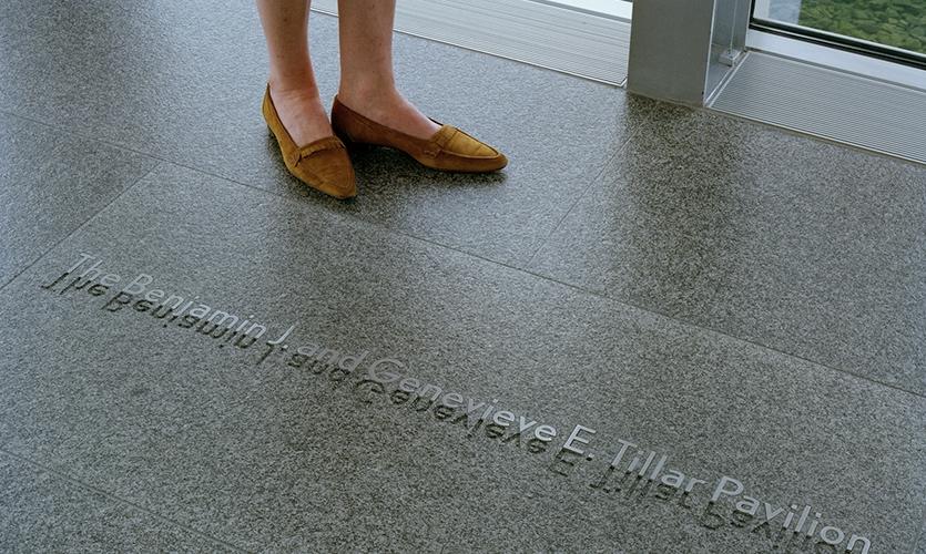Floor Lettering, The Modern Art Museum of Fort Worth, Pentagram