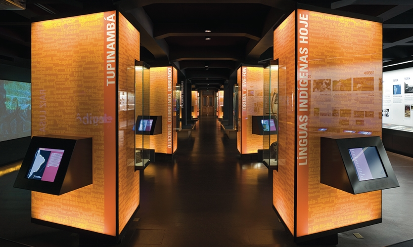 Totems, The Museum of the Portuguese Language, Fundacao Roberto Marinho, Ralph Appebaum Associates