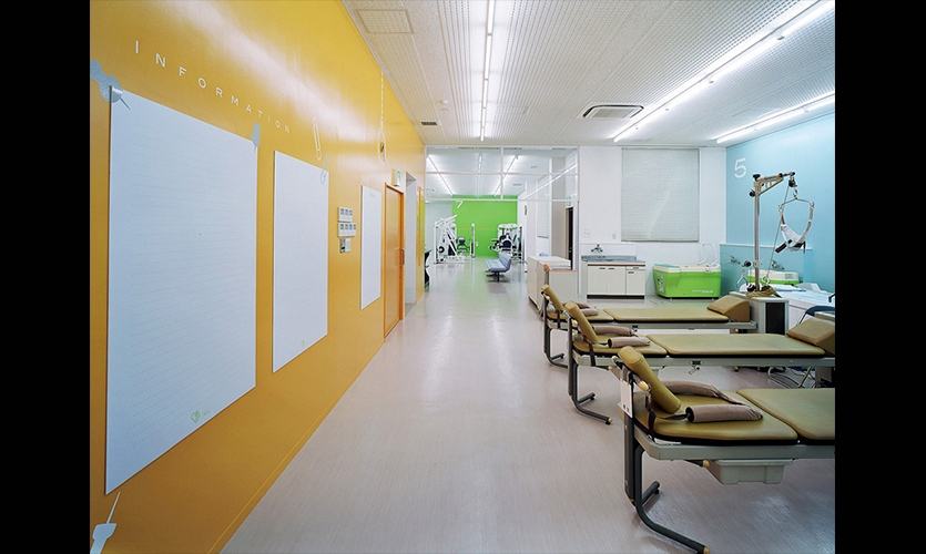 Bright Colors among Therapy Section, San-Ai Clinic Color and Signage Design, San-Ai Kai Medical Corp., MED