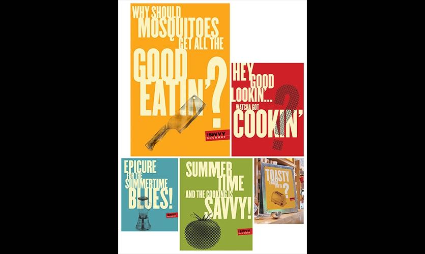 Graphics, The Savvy Gourmet, Zande+Newman Design