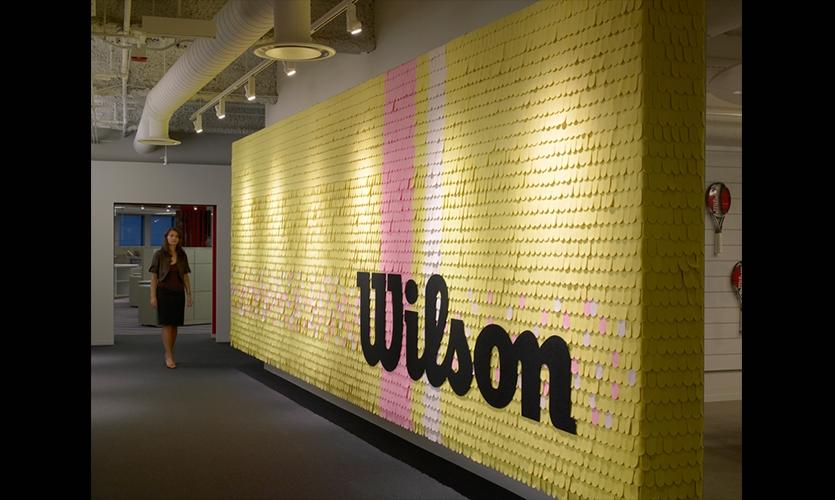Brand Wall, Wilson Sporting Goods Headquarters, Gensler