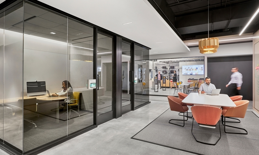 McDonald's communicated a desire for simplicity, timelessness and brand consistency throughout the massive building that occupies an entire city block