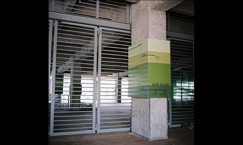Warehouse Signage, Docks en Seine, Icade, Nicolas Vrignaud