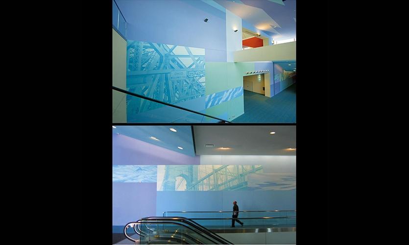 Wall Graphics, Duke Energy Center, City of Cincinnati Department of Transportation and Engineering, Sussman/Prejza & Company, LMN Architects