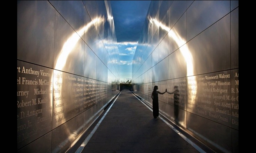 Sunlight on Wall, Empty Sky: The New Jersey 9/11 Memorial, State of New Jersey Department of Treasury, Frederic Schwartz Architects