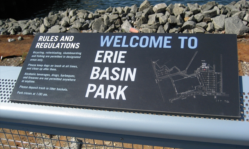 Welcome Interpretive Panel, Erie Basin Park, IKEA Corporation, Russell Design