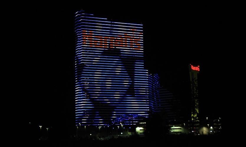 Dice Digital Display, Harrah's Resort Media Façade, Harrah's Resort Atlantic City, Tim Hunter Design
