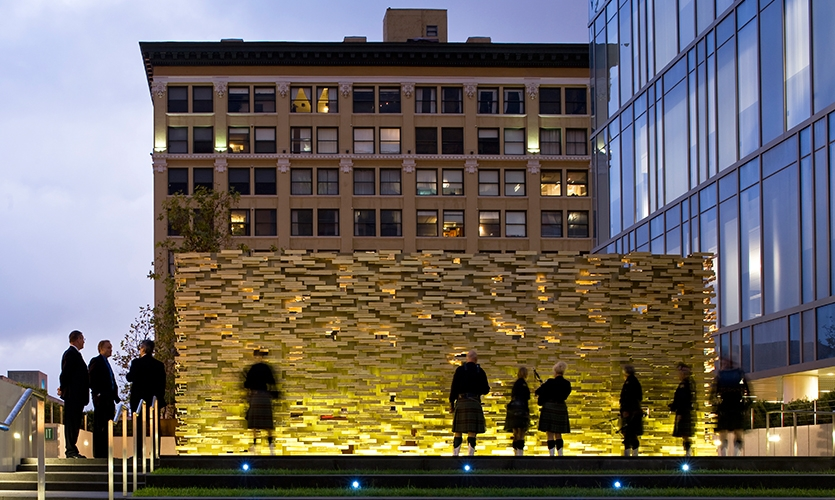 Evening View, LAPD Memorial, Los Angeles Police Foundation, Gensler