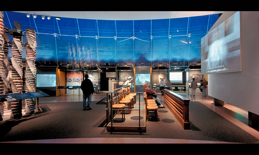 Video Display, National Constitution Center, Ralph Appelbaum Associates