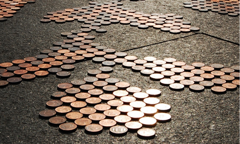 Coins on Ground, Obsessions Make My Life Worse and My Work Better, Experimenta/Urban Play, Sagmeister Inc.