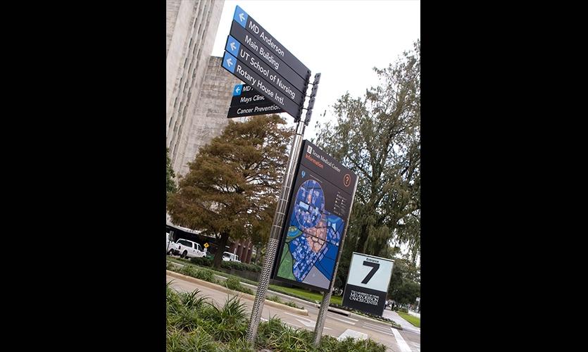 Directional Sign and Map, Texas Medical Center Wayfinding Master Plan, fd2s Inc.