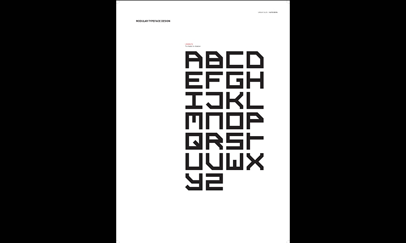 Typographic Font, Urban Tales Shadow Typography, Massey University, College of Creative Arts, Katie Bevin