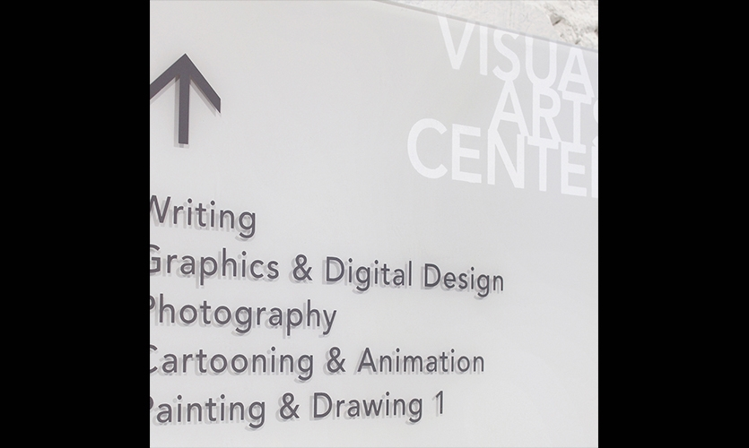 Wayfinding Sign, Visual Arts Center of Richmond Signage, 3north