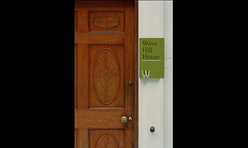 House Signage, Wave Hill, Pentagram