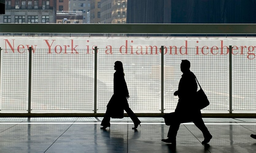 Lettering, Temporary WTC Path Station, The Port Authority of New York and New Jersey, Pentagram