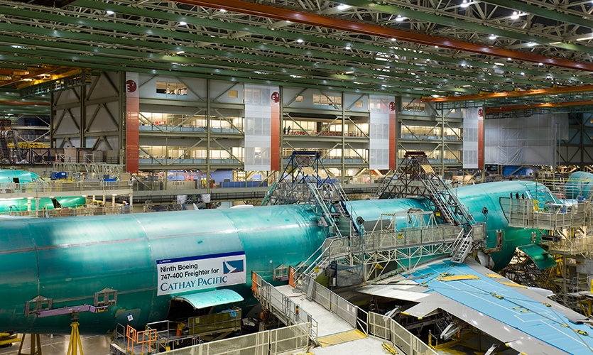 Interior View, Boeing Future Factory, The Boeing Company, NBBJ