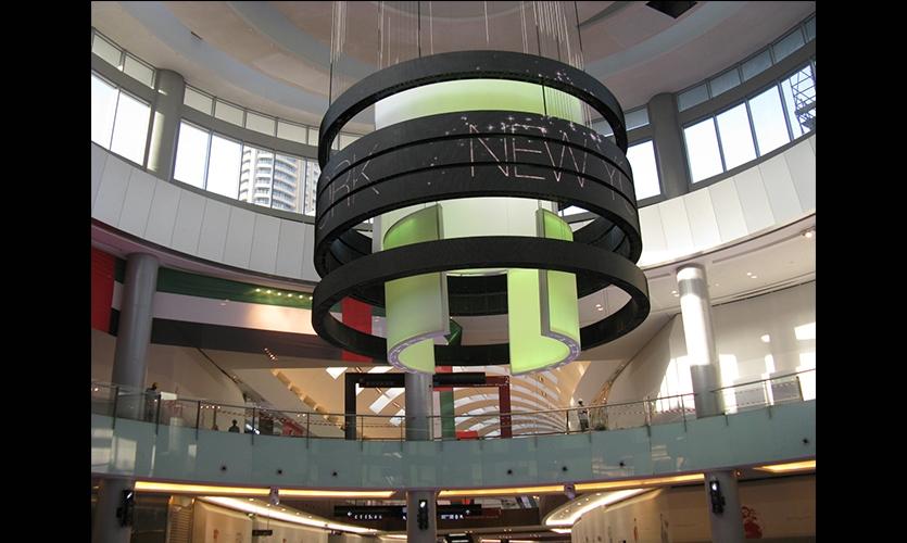 Catwalk Rings, Dubai Mall Catwalk, Emaar, Square Peg Design