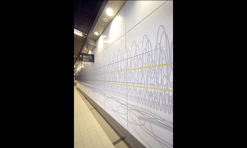 Wall Graphics, Fortitude Valley Station, QR Passenger Pty. Ltd., The Buchan Group