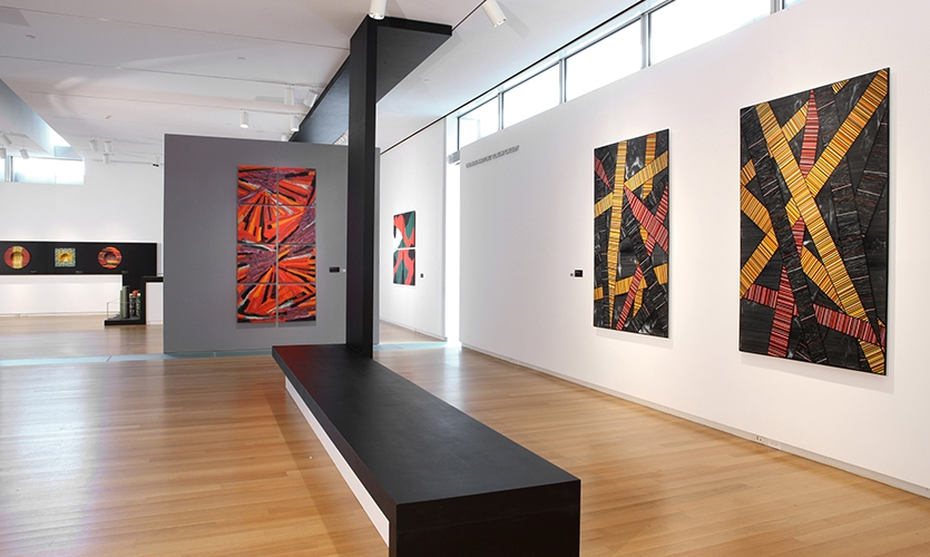 Exhibit Floor, Klaus Moje: Paintings in Glass, Museum of Arts and Design, Wendy Evans Joseph Architecture
