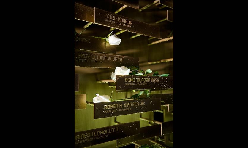 Names of Fallen Officers, LAPD Memorial, Los Angeles Police Foundation, Gensler
