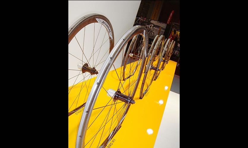 Wheel Sets Display, Reynolds Interbike Exhibit, Reynolds Composites, Mauk Design