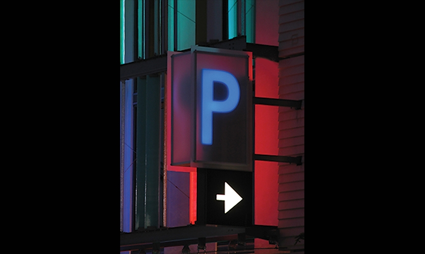 Parking Identification, Santa Monica Civic Center Parking Structure Signage, Forest City Residential West, Electroland, LLC