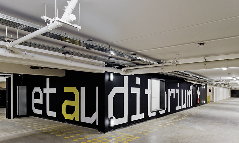 Wall Graphics, Theatre and Auditorium Poitiers (TAP), JLCG Archtects, P-06 Atelier