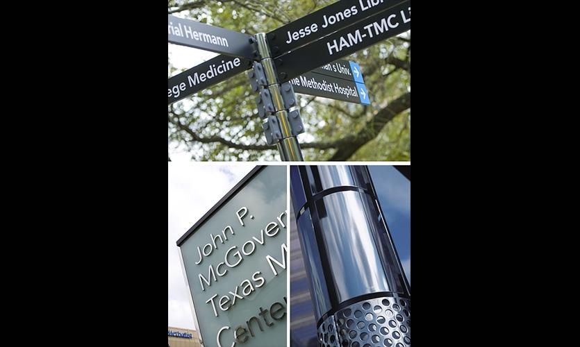 Signage Detail, Texas Medical Center Wayfinding Master Plan, fd2s Inc.