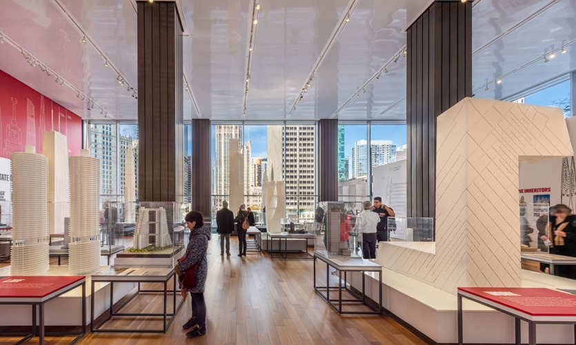 From the beginning, creating a neutral visual framework and sense of scale were vitally important to cultivate visual harmony in the minimalist space with sweeping views of the river and city skyline.