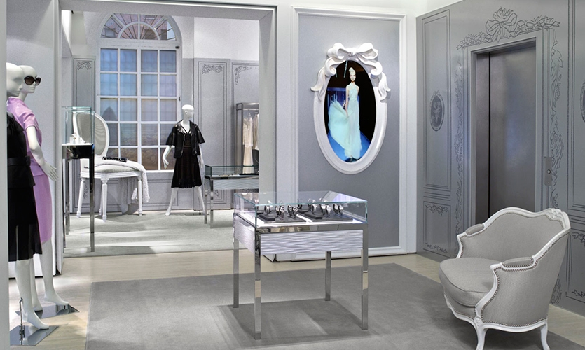 Beautiful Store Layout, Christian Dior Temporary Store, Christian Dior Couture,  Gensler